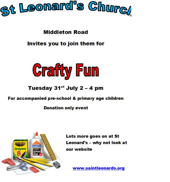 july 31st crafty fun
