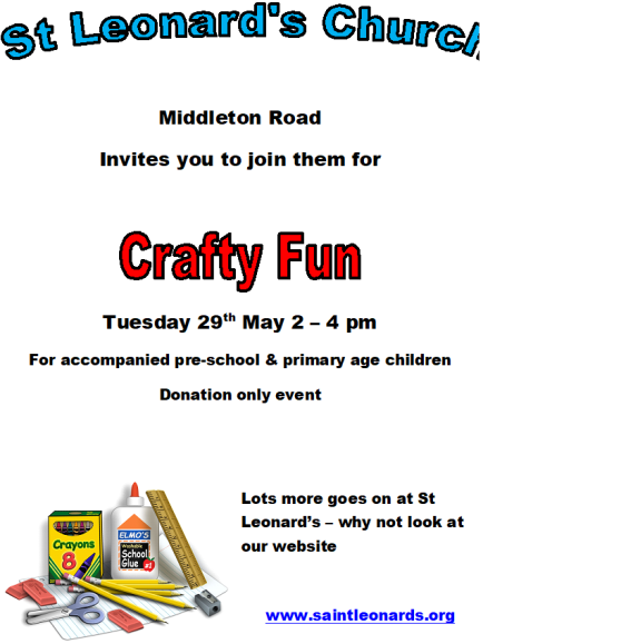 may 29th crafty fun