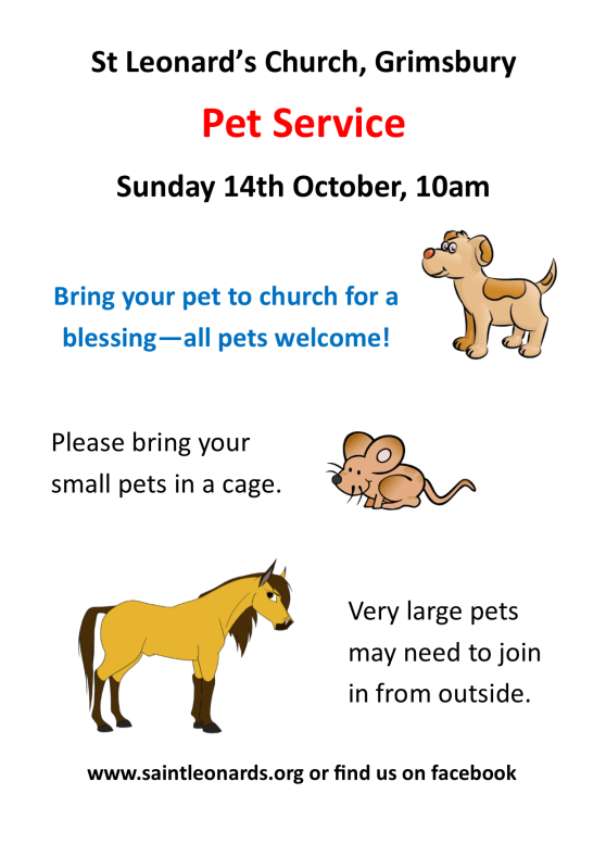 poster for pet service